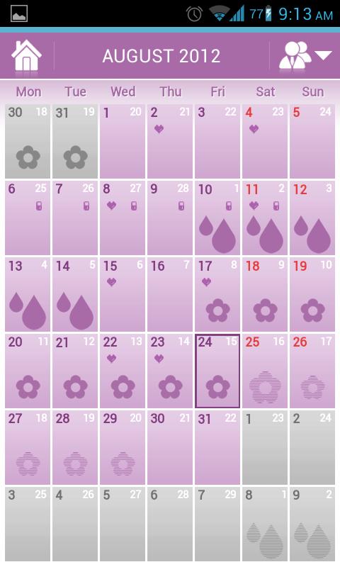 Menstrual Cycle Calendar.Menstrual Cycle Calendar Woman Log