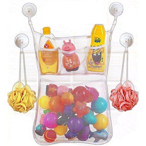 bubble-buddie-bathtub-organizer-large-pocket-for-toys-with-3-smaller-soap-holder-pockets-mold-resist