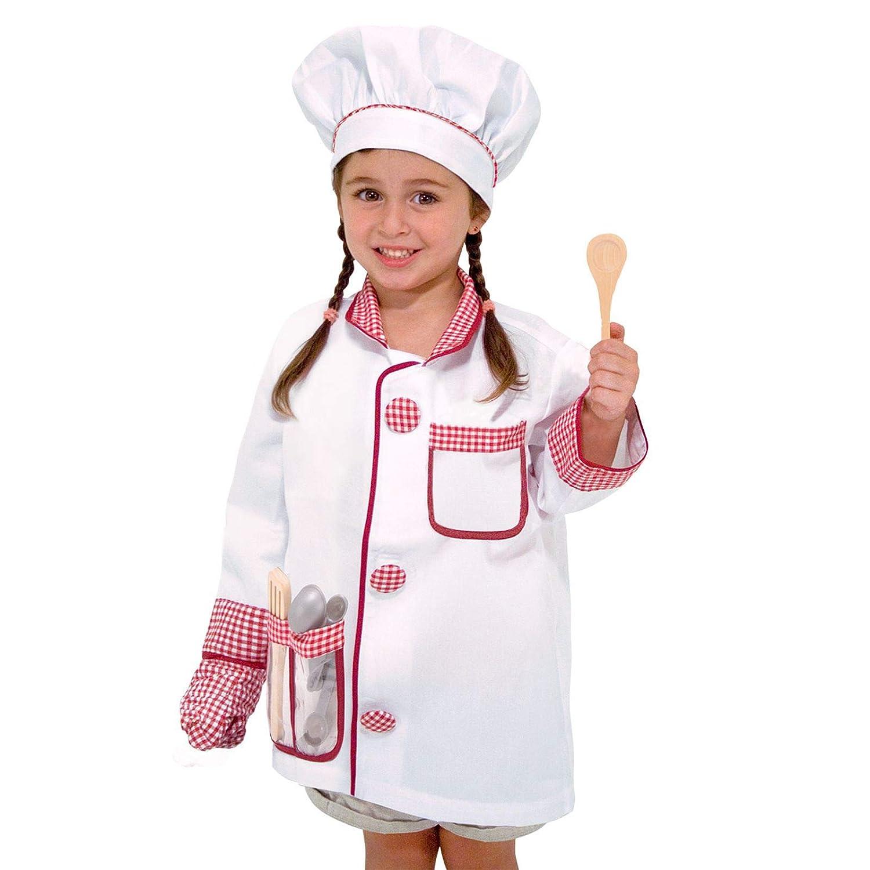 Amazon.com: Conjunto de disfraz de chef Melissa & Doug ...