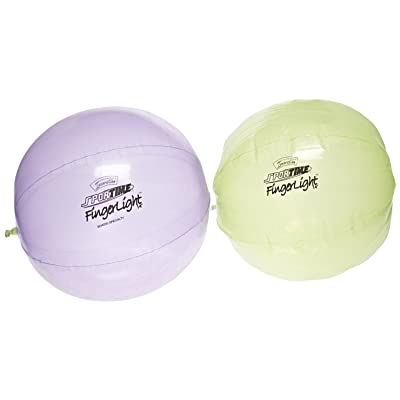 Sportime FingerLights Polyurethane Balls - 14 inch - Pair of 2 - Assorted Colors: Industrial & Scientific