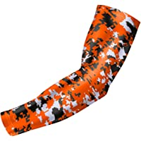 bucwild Sports Compression Arm Sleeve - Youth & Adult Sizes - Baseball Football Basketball Sports (1 Arm Sleeve)