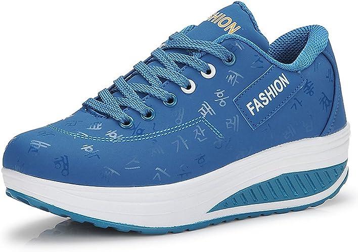 Mujer Adelgazar Zapatos Sneakers para Caminar Zapatillas Aptitud ...