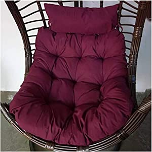 Swing Hanging Chair Cushion Pads, Hammock Seat Cushions Thick Back Chair Cushion Garden Rattan Mat with Pillow,Without Stand 914