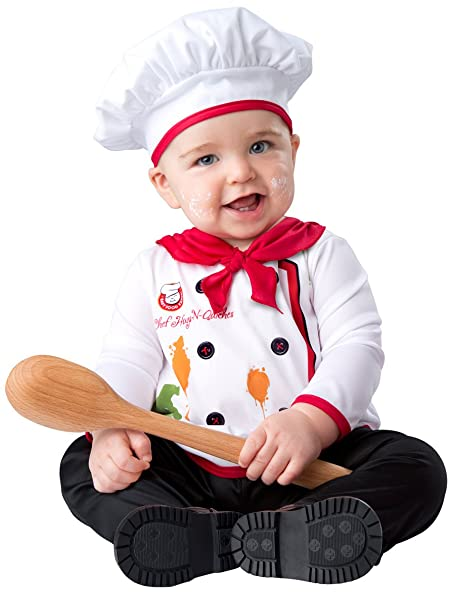 InCharacter Baby Hugs u0026 Quiches Chef Halloween Costume 0-6 months  sc 1 st  Amazon.com : chef halloween costumes  - Germanpascual.Com