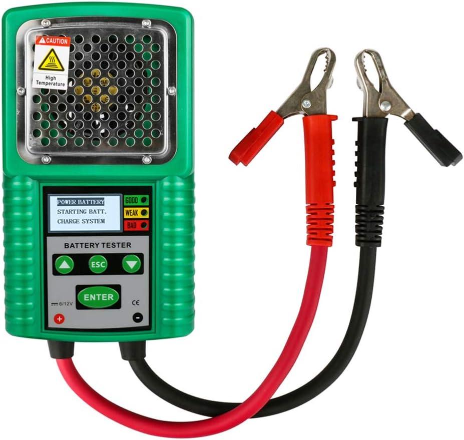 Probador de batería automotriz 6V/12V Tracción,Probador de batería de arranque de potencia,Prueba del sistema de carga Analizador de batería digital 3 en 1 Probador de carga de batería automotriz