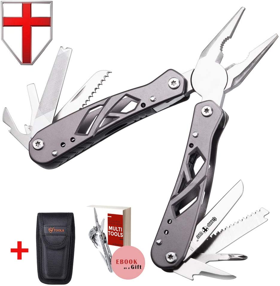 Grand Way Mini Multitool with Knife and Pliers – Best Utility Multi Purpose Tool with All in One Tool Set – Everyday Universal Knife for Camping, Survival and Outdoor Activities 2236