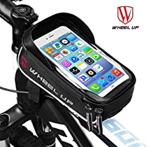 LIDIWEE Bike Frame Bag, Waterproof Touchscreen Top Tube Pannier Bag Saddle Bag, 6 Handlebar Phone Mount Holder for Road Bike/Mountain Bike Accessories