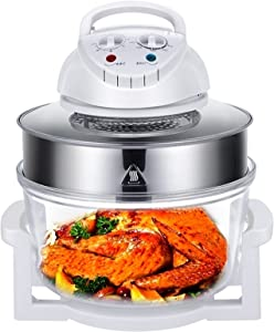 QHKY Air Fryers - 12L Electric Hot Air Fryers Oven Roaster Infrared Air Fryer Multi Cooker Turbo Convection Oven More Energy-Saving Frying/Bake/Steaming/Thawing