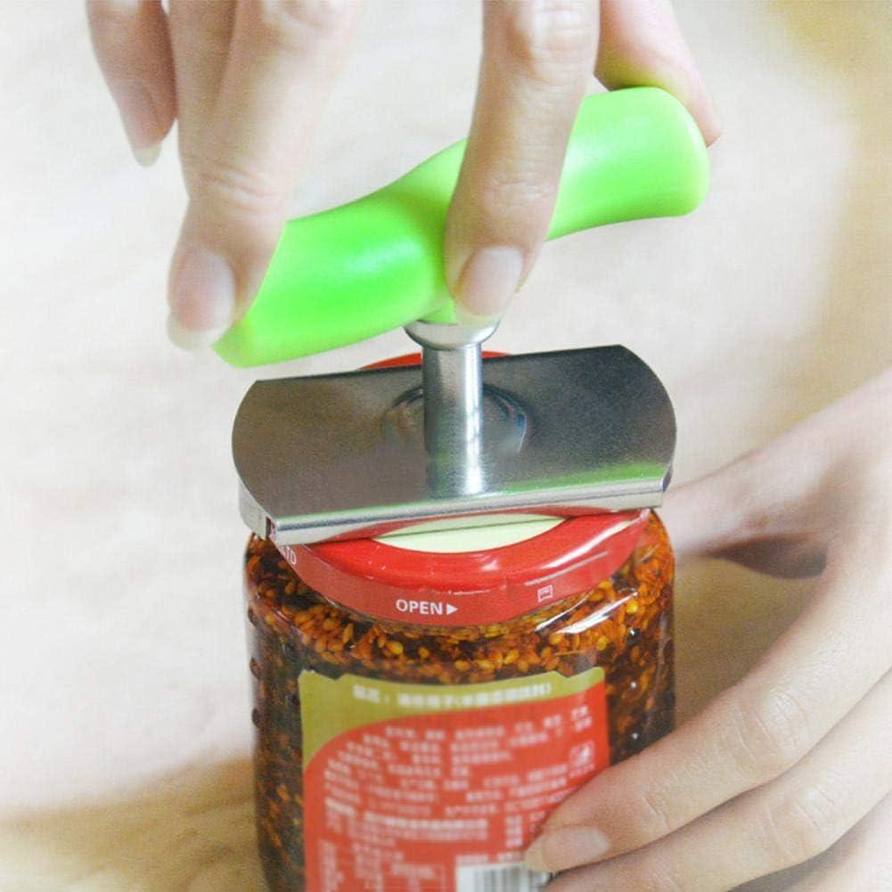 Janny-shop Ajustable Abrelatas de Ahorro de Mano de Obra Multifunci/ón de Acero Inoxidable para Cocina Abra F/ácilmente el Frasco