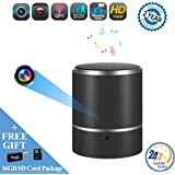 Speaker Hidden Camera By WEMLB - HD 1080P WIFI Hidden Camera - Wireless Stereo Speaker Bluetooth Music Player Hidden cam- Lens support Left/Right 180° rotation - Nanny Cameras - Motion Alarm Detection