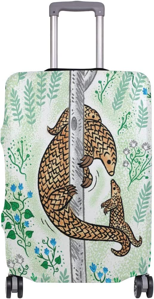 3D Pangolin Parenting Print Luggage Protector Travel Luggage Cover Trolley Case Protective Cover Fits 18-32 Inch