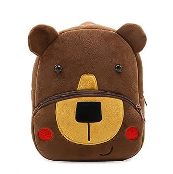 LIMISKY Nuevo Series de parque zoológico Mochilas pequenos Cute Backpack Patrones Animales Lindo Bolsa de Hombro de ninos regalo 2-4 años 26.5 * 24 ...