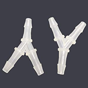 "PP Barb Y Tee 5/8"" Hose ID Fitting Polypropylene Plastic Pipe Connectors Boat Water Air Aquarium O2 Fuel Pack of 2"