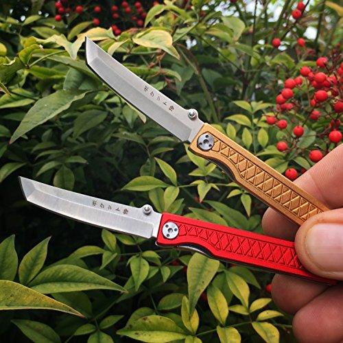 StatGear Pocket Samurai Folder Knife 2.25 in Blade Red Aluminum by StatGear (Image #5)