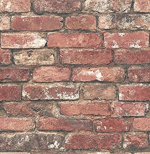 York Wallcoverings HE1044 Red Brick Wallpaper