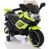 KIDS 6V RIDE ON BATTERY POWERED MOTOR BIKE,GREEN.