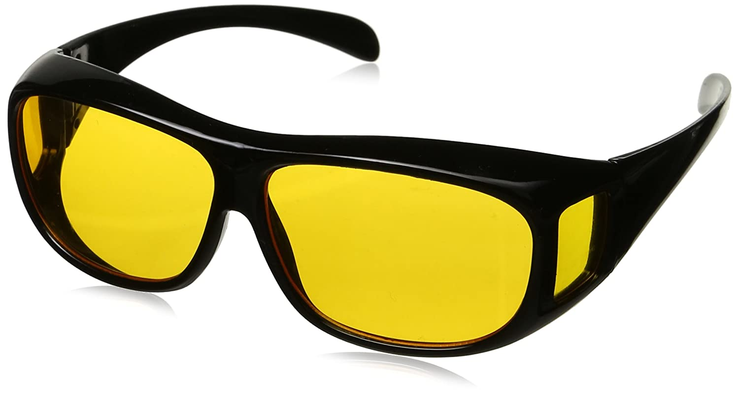 a84f6dcc45d2 Amazon.com: HD Night Vision Wraparounds Wrap Around Glasses: Sports &  Outdoors