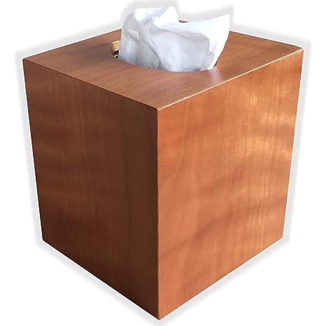 Amazon Com Wooden Tissue Box Cover In American Cherry