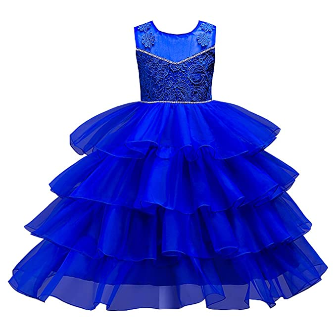 Vestido Volante Niña-Free Fisher Vestido Elegante de Princesa Fruncido Pastel para Dama de Honor