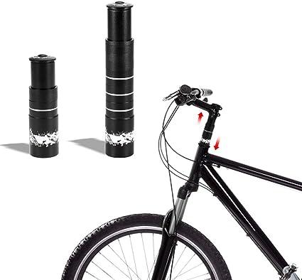 Bike Fork Stem Extender Bicycle Handlebar Riser Adapter MTB Mountain Bike Black