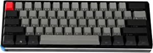 NPKC Black Gray Mixed Dolch Thick PBT 104 87 61 Keycaps Mac Keys OEM Profile Key caps for MX Mechanical Keyboard (61 Side Print)(Only Keycap)