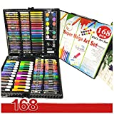 168 Pieces Deluxe Art Set Supplies for Drawing Painting and More in a Compact Portable Case