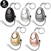 Alarme Personnelle avec Torche LED, 5 Pack Alarme Personnelle D'urgence pour L'auto-protection/Enfants/Femmes/Étudiant/Personnes âgées/Jogger