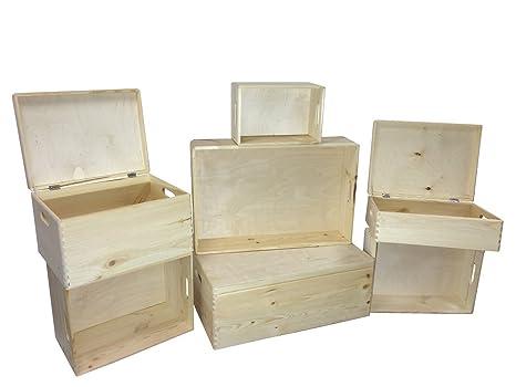 Cajas apilables 8,4 – 57,6l Caja Almacenamiento Caja Caja de madera con