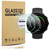 Suoman 3-Pack for Polar Vantage M/Polar Vantage V Screen Protector Tempered Glass [2.5D 9H Hardness] [Anti-Scratch] [Bubble-Free]