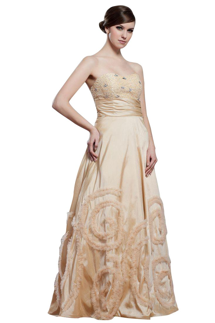 Beauty-Emily Maxi Sweetheart Neckline A-Line Rhinestone Satin Backless Zipper Christmas Gifts Night Evening Dresses Color Beige,Size US20W
