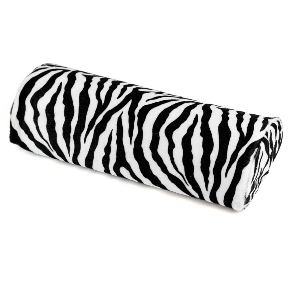 Zebra Stripe Hand Rest Cushion Pillow Nail Art Manicure Half Column 30x13x6cm ReFaXi