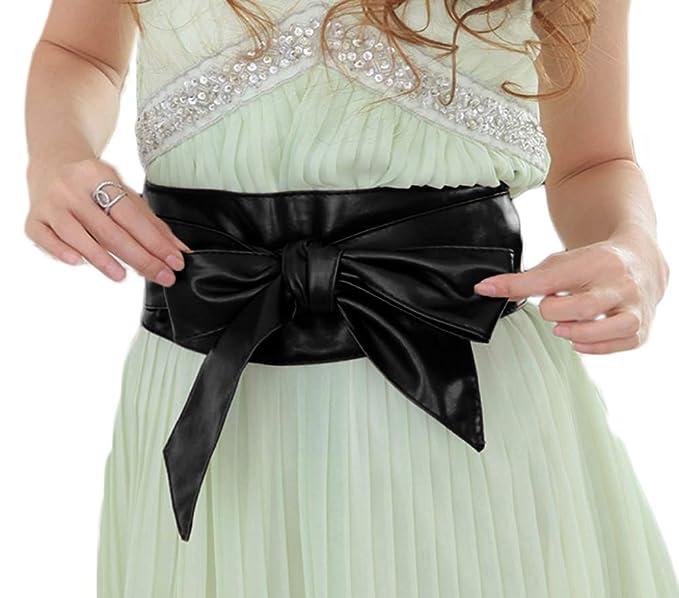 Cinch Waist Band Boho Belt Colorful House Womens PU Leather Wrap Obi Belt