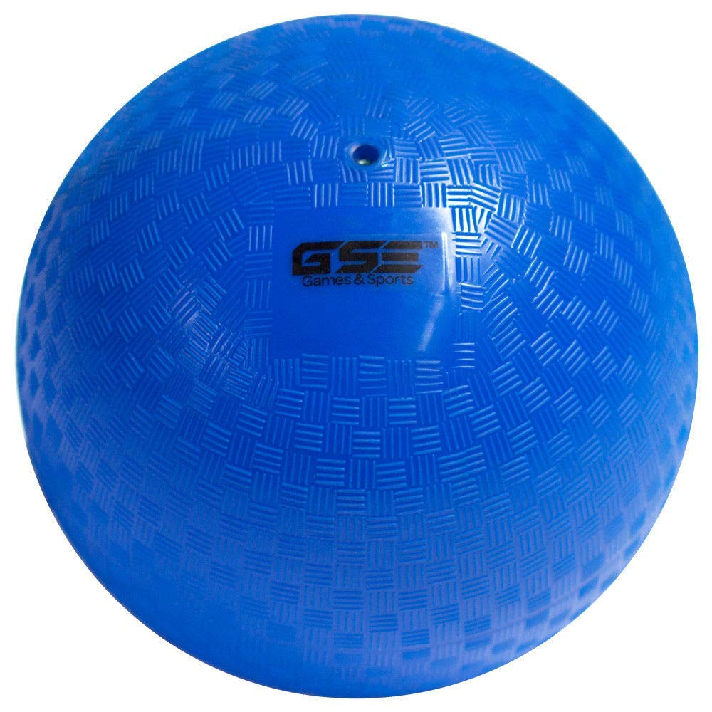 GSE Games & Sports Expert 10-inch Classic Inflatable Playground Balls (5 Colors Available) (Single - Blue) by GSE Games & Sports Expert