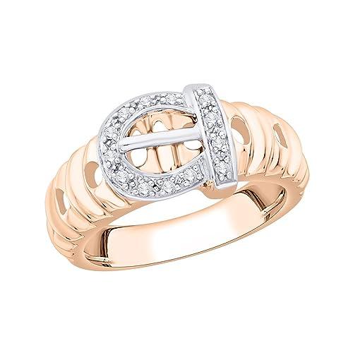 Size-10.5 Diamond Wedding Band in 10K White Gold 1//6 cttw, G-H,I2-I3