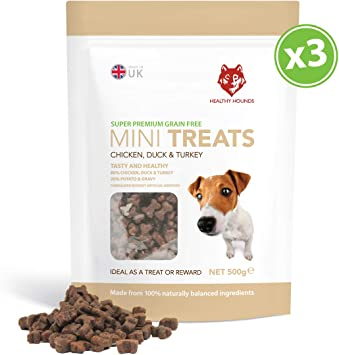 Healthy Hounds Grain Free Training Treats For Dogs 800 Chicken Duck Turkey Treats 80 Fresh Poultry Meat 20 Potato Gravy 3 X 500g Pack Hypoallergenic Treats Dogs Puppies Amazon Co Uk Pet Supplies