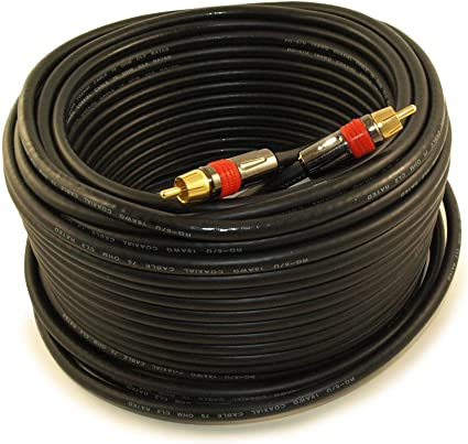 75ft RCA PREMIUM IN-WALL 5-Wire Component Video//Audio Cables Gold Plated