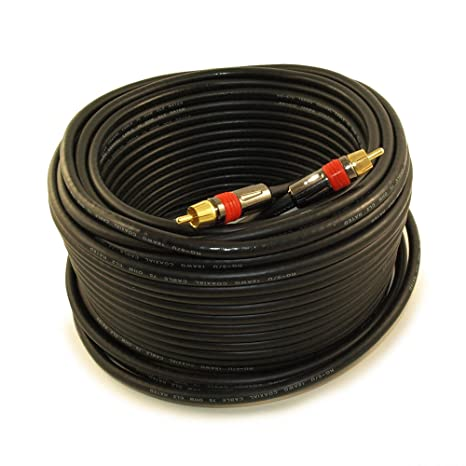 MyCableMart 100ft 1 Wire RCA Premium Digital Audio SubWoofer/Video Cable IN WALL