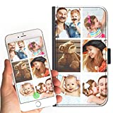 Hairyworm Personalised leather side flip wallet phone case, Custom Photo Cover For 5, 5s Personalize with Image