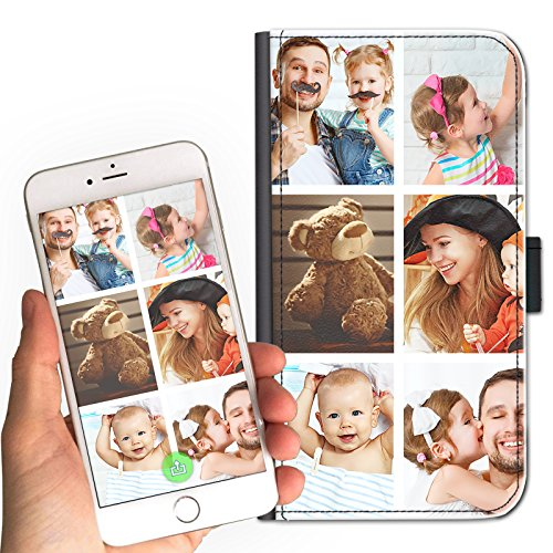 Personalized Photo Cell Phone Case for Samsung Galaxy S4 Mini Cell Phone, Custom Image on Leather Side Flip Wallet Cell Phone Case, Cell Phone Cover - Customize Now