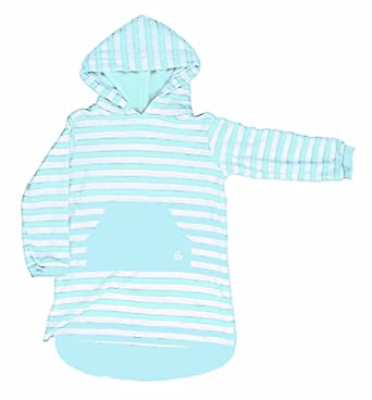 29183022b3848 MITTY JAMES LONG HOODED TOWELLING BEACH ROBE -sky blue stripe 11-12 yrs:  Amazon.co.uk: Clothing