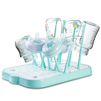 Baby Bottle Drying Rack High Capacity Dryer Drains Hold Up to 16 Bottles or Cups