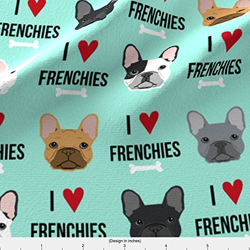 french bulldog fleece fabric - 8