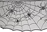 Amscan 570200 Lace Cobweb Mantle Scarf, 18'' x 96'', Black