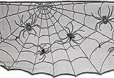 Amscan 570200 Lace Cobweb Mantle Scarf, 18'' x 96'', Black
