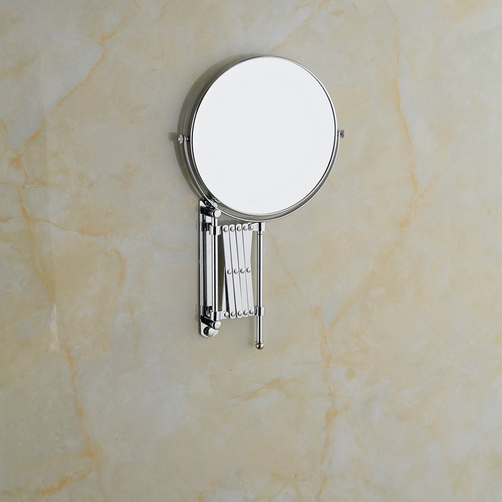 Cavoli 6 Inches Double-sided Wall Mount Scalable Mirror with 3x Magnification,Chrome Finish(6 inch,3x) by Cavoli (Image #6)