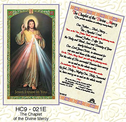 - The Chaplet of Divine Mercy Paper Prayer Cards - Pack of 100 - HC9-021E-L