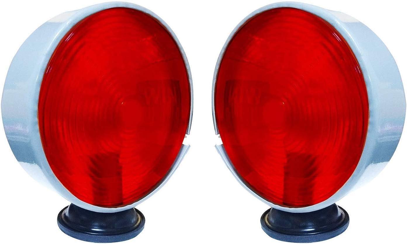 Bajato 11000602 Massey Ferguson John Deere Other Tractor Safety Warning Light Pair 12V Red-Amber