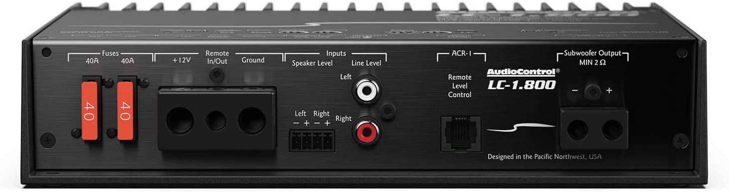 AudioControl LC-1.800 Monoblock 800W RMS Amplifier with Accubass