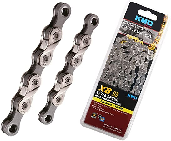 """8-Speed Bike Chain fits Campy SRAM Shimano 1//2/""""x3//32/"""" 116-Links KMC X8.93 6 7"""