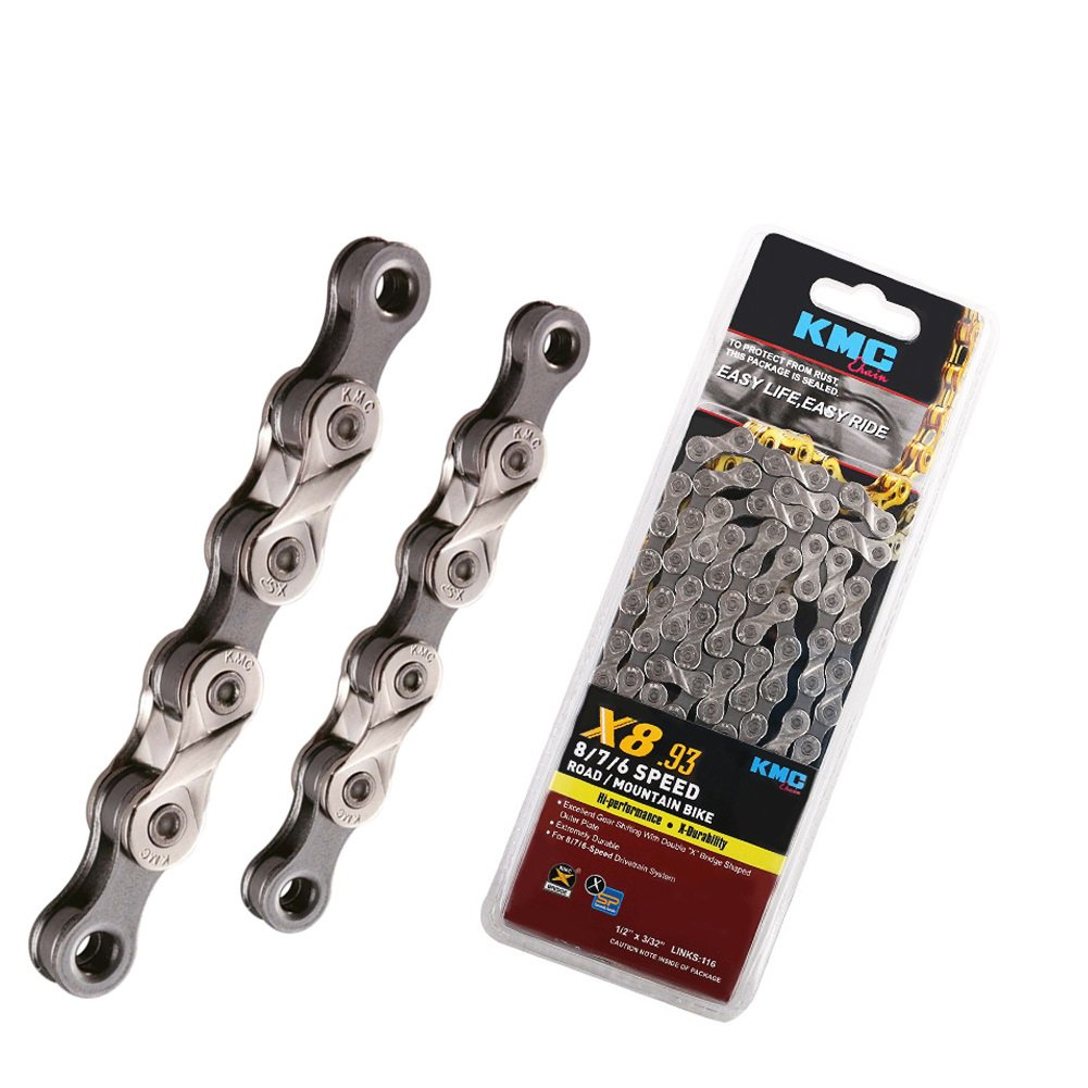 KMC X8.93, 6,7,8 Speed Chain for Trekking 116 Links Half Nickel Plated Original